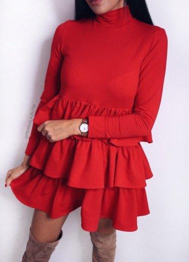 Sukienka CELINE czerwona