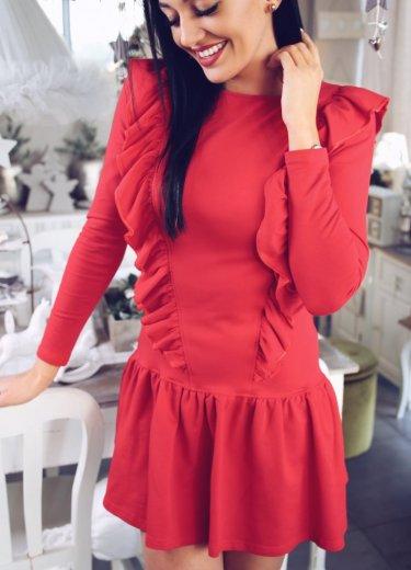 Sukienka MERCI - czerwona