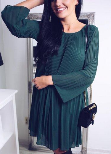 Sukienka PLISOWANA - zielona