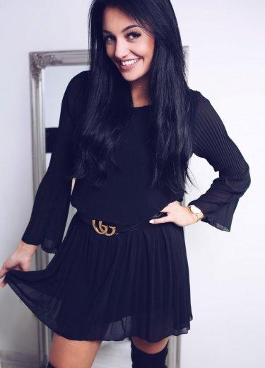 Sukienka PLISOWANA - czarna