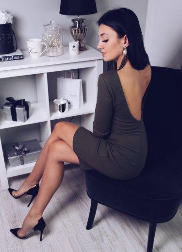Sukienka KYLIE BACK - khaki