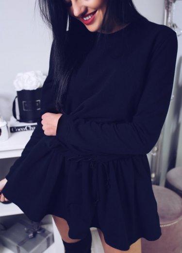 Sukienka dresowa LEYLA - czarna