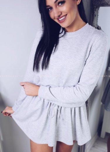 Sukienka dresowa LEYLA - jasnoszara
