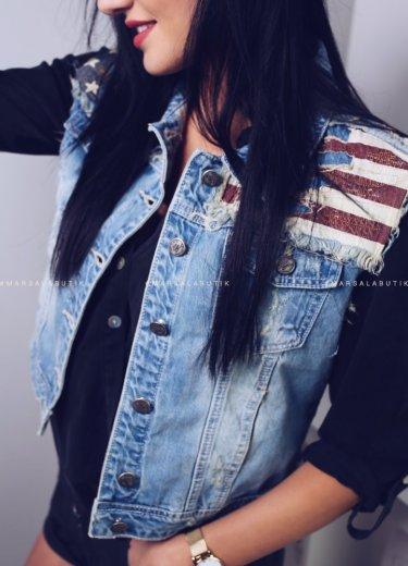 Kamizelka jeansowa AMERICA