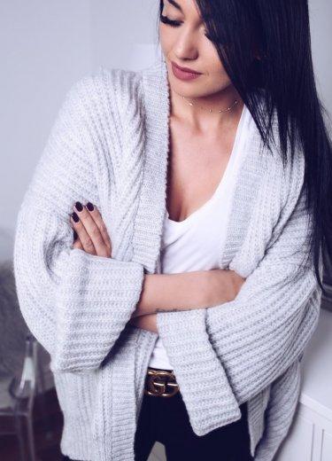 Sweterek MISS szary