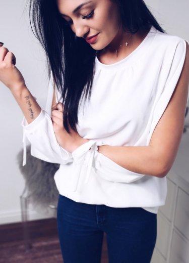Bluzka SOMMA z długim rękawem - biała