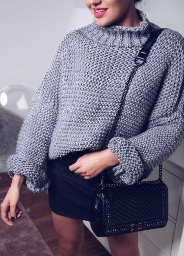 Sweter PREGO - ciemnoszary