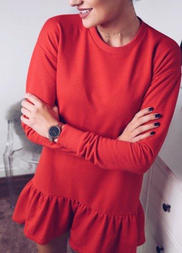 Sukienka RIVIA BASIC - czerwona