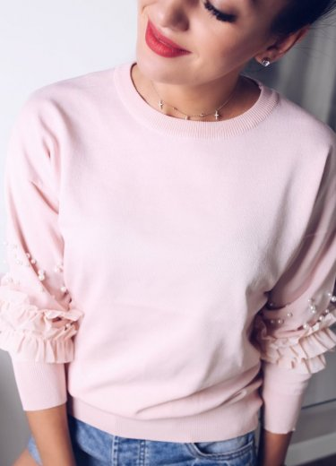 Sweterek LIU pudrowy róż