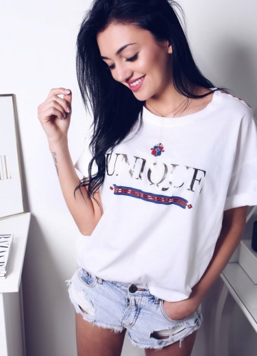T-shirt UNIQUE biały