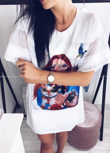 Bluzka Tunika FACE biała