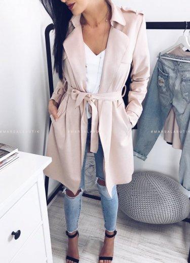 Płaszcz ARIZONA w kolorze pudrowym