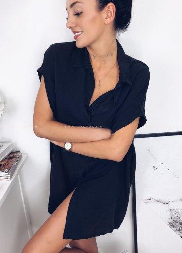 Koszula ISA bez rękawów w kolorze czarnym