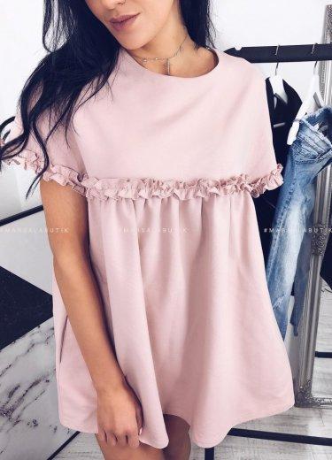 Sukienka LULLA w kolorze pudrowym