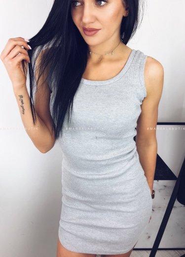 Sukienka BOKSERKA szara