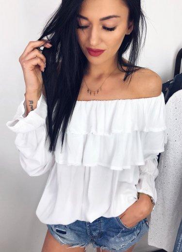 Bluzka hiszpanka CHIARA w kolorze białym