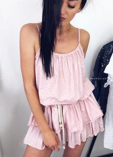 Sukienka PARKER z falbankami róż