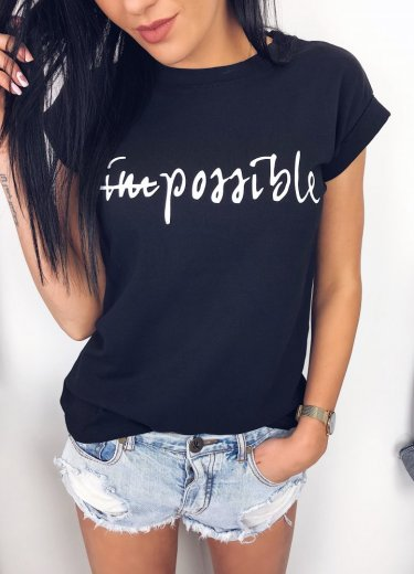 T-shirt IMPOSSIBLE czarny