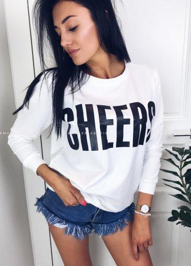 Bluza CHEERS. biała