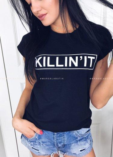 T-shirt czarny KILLIN