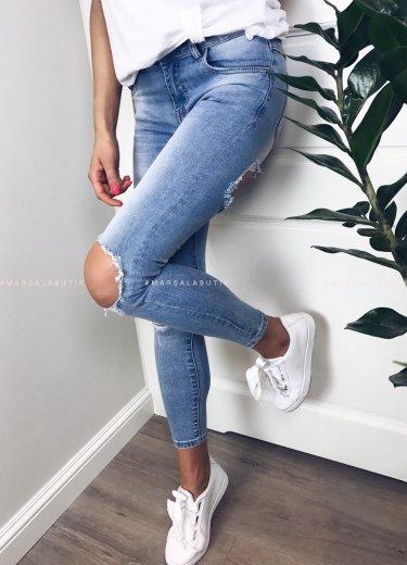 Spodnie jeansy z dziurami - BRAVE