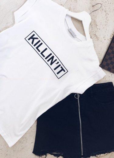 T-shirt biały KILLIN