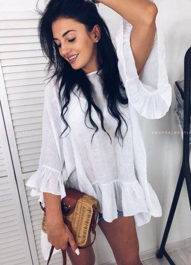 Bluzka NUEVE oversize w kolorze białym