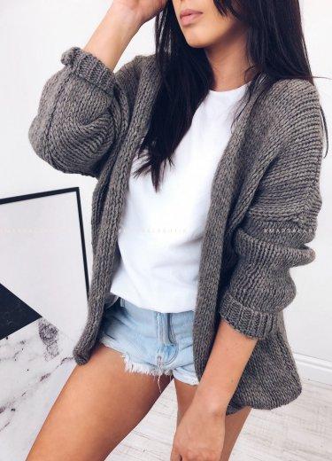 Sweterek SOHO szary beż