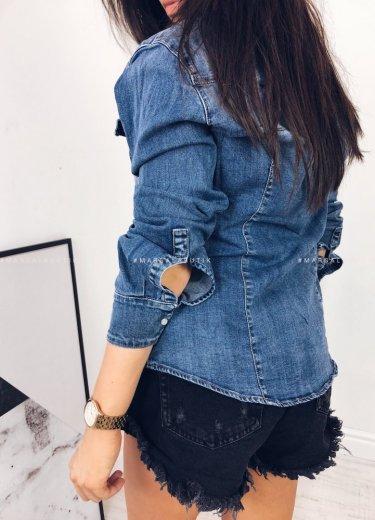 Koszula jeansowa przecierana CLASSICAL