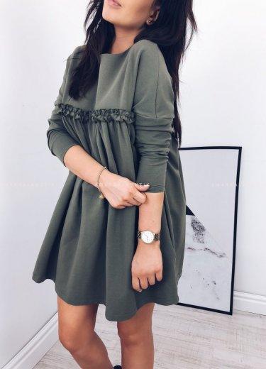 Sukienka LULLA LONG w kolorze khaki