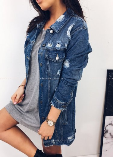 Katana kurtka STORM jeansowa długa