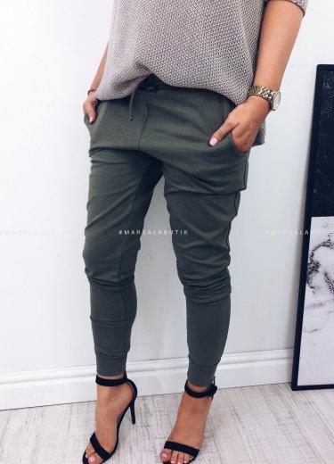 Spodnie dresowe COMFORT BASIC khaki