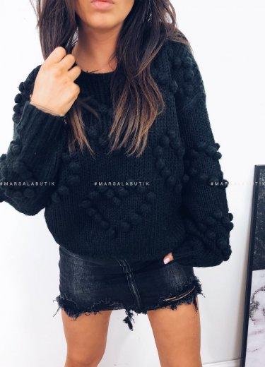 Sweterek HEART serca czarny