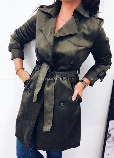 Płaszcz zamszowy ARIZONA w kolorze khaki