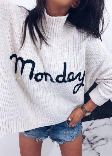 Sweter MONDAY ecru