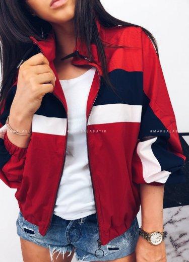 Kurtka/bluza HASTINGS pasy czerwona