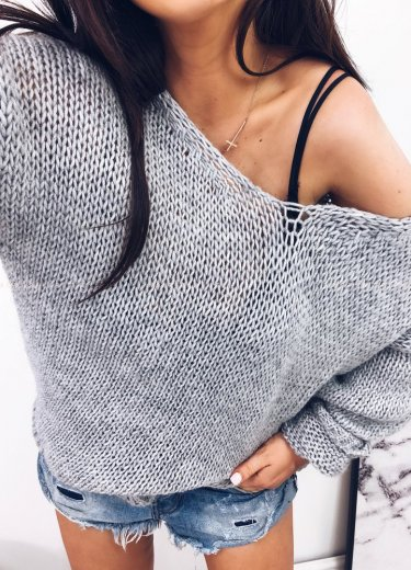 Sweter SUGAR szary