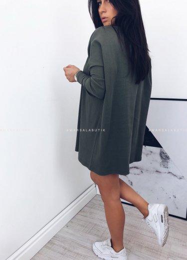 Sweterek/tunika SLEEK w kolorze khaki