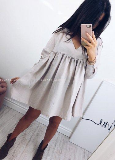 Sukienka PASO long beżowa