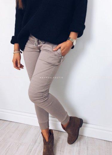 Spodnie dresowe BIKER mocca