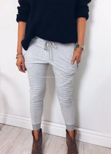 Spodnie dresowe BIKER szare