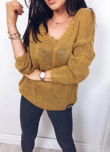 Sweterek SUGAR musztarda