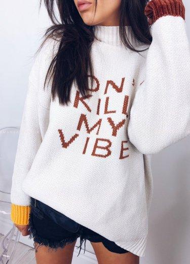 Sweter VIBE ecru