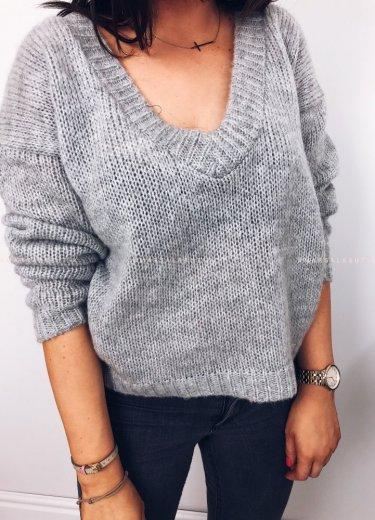 Sweterek V szary - PRETTY