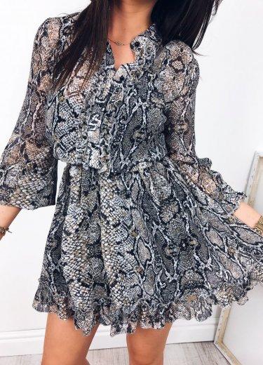 Sukienka ANIMAL w wężowy print