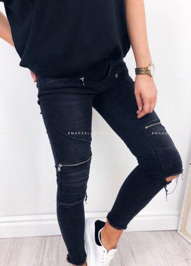 Spodnie RUSH z zamkami