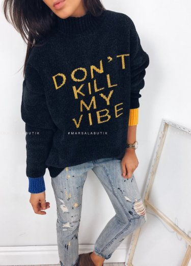Sweter VIBE czarny