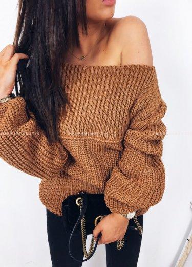 Sweter/tunika tuba ceglany - FLOSS