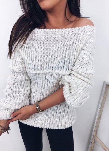 Sweter/tunika tuba ecru - FLOSS