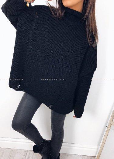 Sweter oversize czarny - COCONUT
